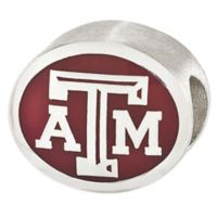 Sterling Silver Collegiate Texas A&M University Red Enameled Charm Bead