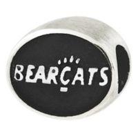 Sterling Silver Collegiate University of Cincinnati Bearcats Antiqued Charm Bead