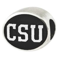 Sterling Silver Collegiate Colorado State University Antiqued Charm Bead