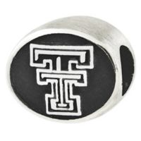 Sterling Silver Collegiate Texas Tech University Antiqued Charm Bead