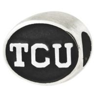 Sterling Silver Collegiate Texas Christian University Antiqued Charm Bead