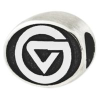 Sterling Silver Collegiate Grand Valley State Antiqued Charm Bead