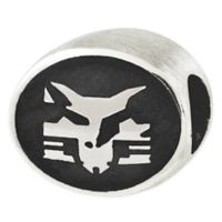 Sterling Silver Collegiate New York University Bobcat Antiqued Charm Bead