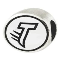 Sterling Silver Collegiate Towson University Antiqued Charm Bead