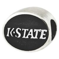 Sterling Silver Collegiate Kansas State University Antiqued Charm Bead