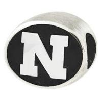 Sterling Silver Collegiate University of Nebraska Antiqued Charm Bead
