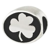 Sterling Silver Collegiate University of Notre Dame Clover Antiqued Charm Bead