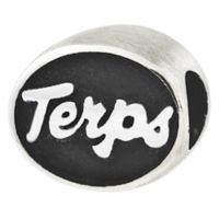 Sterling Silver Collegiate University of Maryland Terps Antiqued Charm Bead