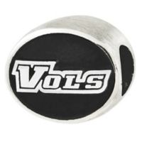 Sterling Silver Collegiate University of Tennessee Vols Antiqued Charm Bead