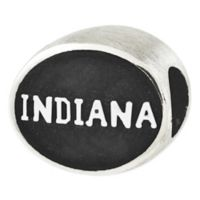 Sterling Silver Collegiate Indiana University Antiqued Charm Bead