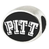 Sterling Silver Collegiate University of Pittsburgh Antiqued Charm Bead