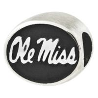 Sterling Silver Collegiate University of Mississippi Ole Miss Antiqued Charm Bead