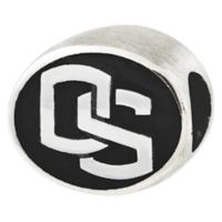 Sterling Silver Collegiate Oregon State University Antiqued Charm Bead