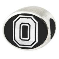 Sterling Silver Collegiate Ohio State University Antiqued Charm Bead