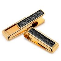 M-Clip® New Yorker Gold-Plated Alligator Money Clip in Black