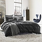Kenneth Cole Reaction Home Obsidian Reversible King Duvet Cover in Black