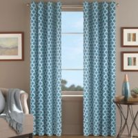 Morocco 95-Inch Window Curtain Panel in Aqua