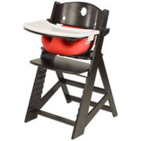 Keekaroo® Height Right High Chair Espresso with Cherry Infant Insert and Tray