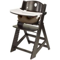 Keekaroo® Height Right High Chair Espresso with Chocolate Infant Insert and Tray