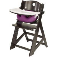 Keekaroo® Height Right High Chair Espresso with Raspberry Infant Insert and Tray