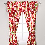 Teen Vogue® Painted Poppy 84-Inch Window Panel Pair in Red