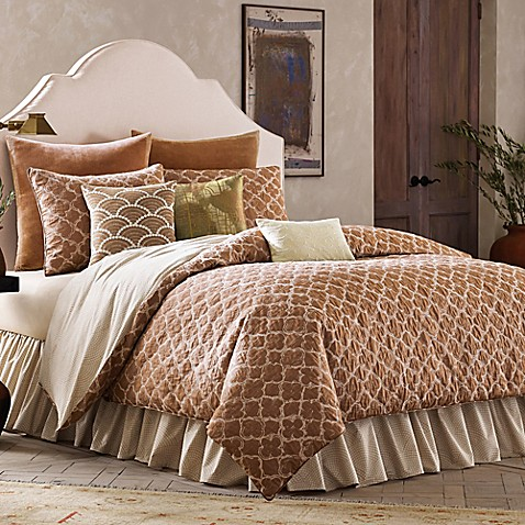 Binichic Terracotta Reversible Comforter Set In Terracotta