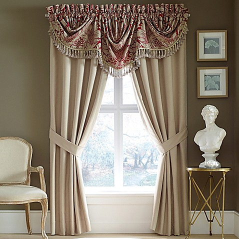 croscill® avery window valance in red - bed bath & beyond