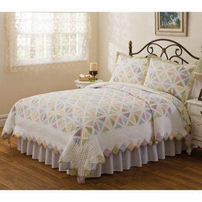 Summer Porch Quilted Standard Pillow Sham