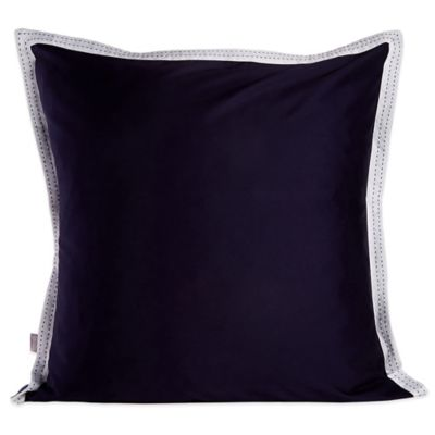 Belle Epoque Pinpoint Solid Navy Square Throw Pillow