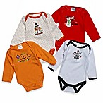 Baby Gear Size 0-6M 4-Pack Long Sleeve Holiday Bodysuits