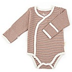 Tadpoles™ by Sleeping Partners Size 0-3M Organic Cotton Long Sleeve Kimono Bodysuit in Cocoa