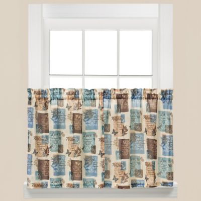 Kitchen Curtains 36 inch kitchen curtains : Buy Butterfly Kitchen Curtains from Bed Bath & Beyond