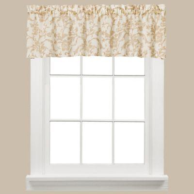 Melissa Window Curtain Valance In Tan