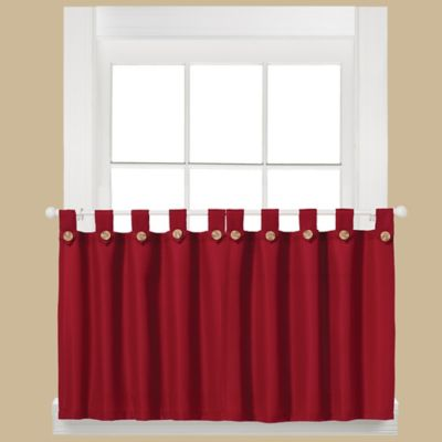 Buy Red Kitchen Curtains From Bed Bath Beyond