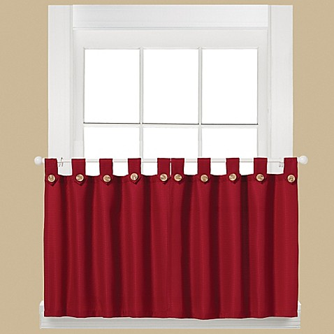 Buy Westlake 36 Inch Window Curtain Tier Pair In Red From Bed Bath Beyond