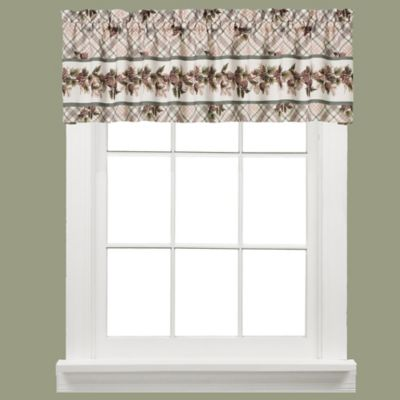 Pinecone Plaid Window Curtain Valance