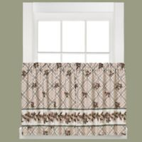 Pinecone Plaid 36-Inch Window Curtain Tier Pair