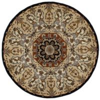 Kaleen Tara Henri 9-Foot 9-Inch Round Area Rug in Black