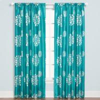 Zazzle Rod Pocket 84-Inch Window Curtain Panel in Aqua