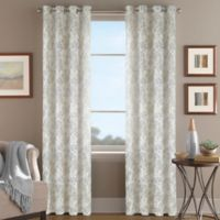Magnolia Morocco 108-Inch Grommet Top Window Curtain Panel in Silver