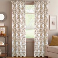 Magnolia Morocco 63-Inch Grommet Top Window Curtain Panel in Gold