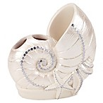 Avanti Sequin Shell Toothbrush Holder in Ivory