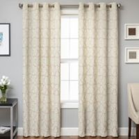 Lindbergh Grommet Top 96-Inch Window Curtain Panel in Champagne