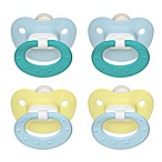NUK® 0-6M 2-Pack Orthodontic Silicone Pacifiers in Blue/Yellow