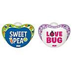 NUK® Small Talk  Sweet Pea  and  Love Bug  0-6M 2-Pack Orthodontic Pacifiers