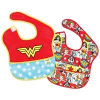 Bumkins® DC Comics 2-Pack Wonder Woman Logo/Comic SuperBib®