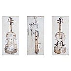Madison Park Violin Study Wall Art (Set of 3)