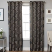 Marlene Grommet Top 84-Inch Window Curtain Panel in Black