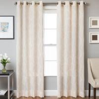 Marlene Grommet Top 84-Inch Window Curtain Panel in White