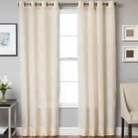 Marlene Grommet Top 84-Inch Window Curtain Panel in Natural